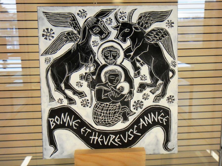 Gravure de Delavouët sur carte à gratter