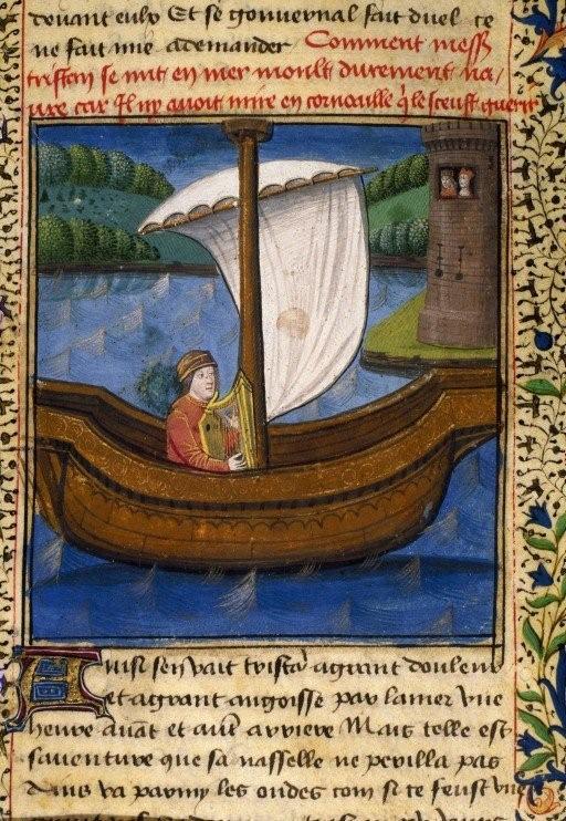 8 Tristan- harpe-enluminure