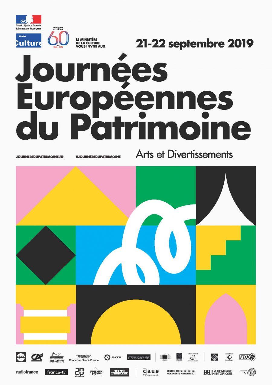 Affiche générique - JEP 2019 A4 © Playground - Ministère de la Culture