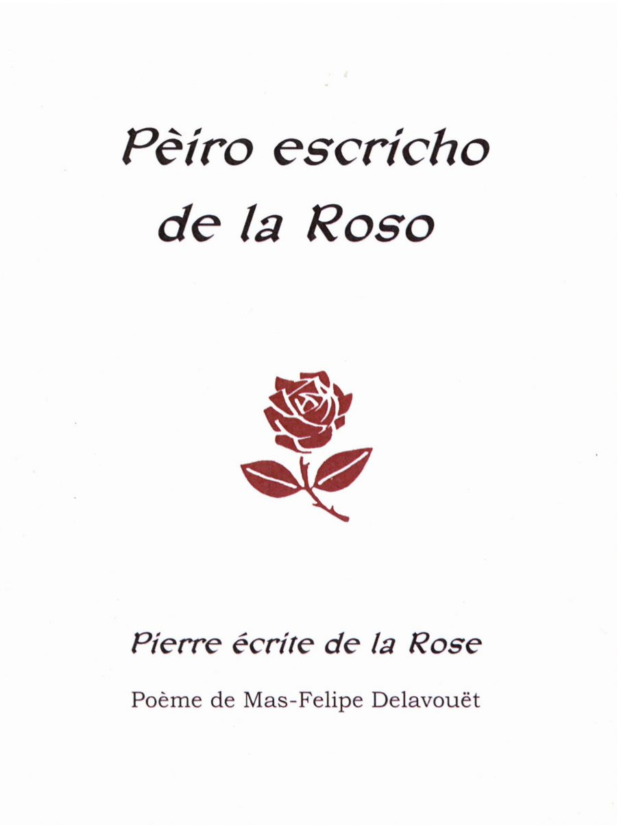 Pierre écrite de la rosecouverture